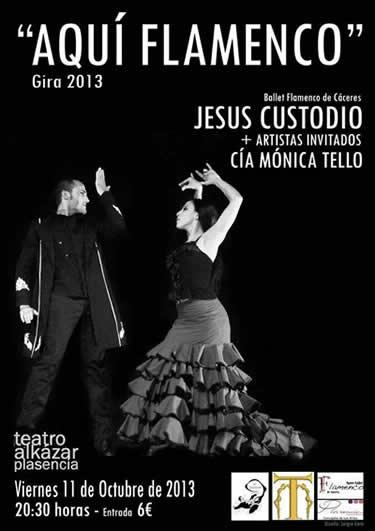Cartel del Espectáculo. Mónica Tello, artista invitada en Aquí Flamenco