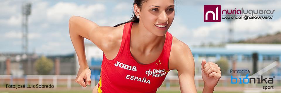 Nuria Lugueros, campeona de atletismo de Castilla León. Su web está elaborada por Clipping y su patrocinador, Biónika Sport es también un cliente de la agencia