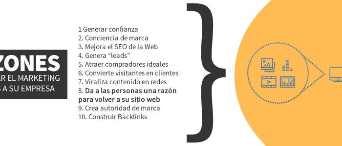 10 razones para incorporar el marketing de contenidos a su web