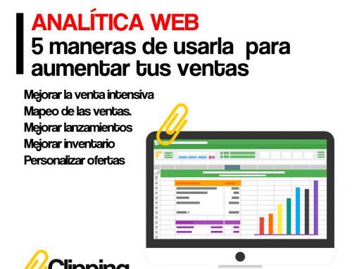 Analítica Web: 5 maneras de usarla  para aumentar las ventas
