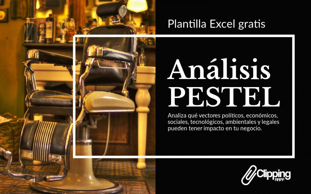 Análisis PESTEL plantilla gratis descargable en Excel