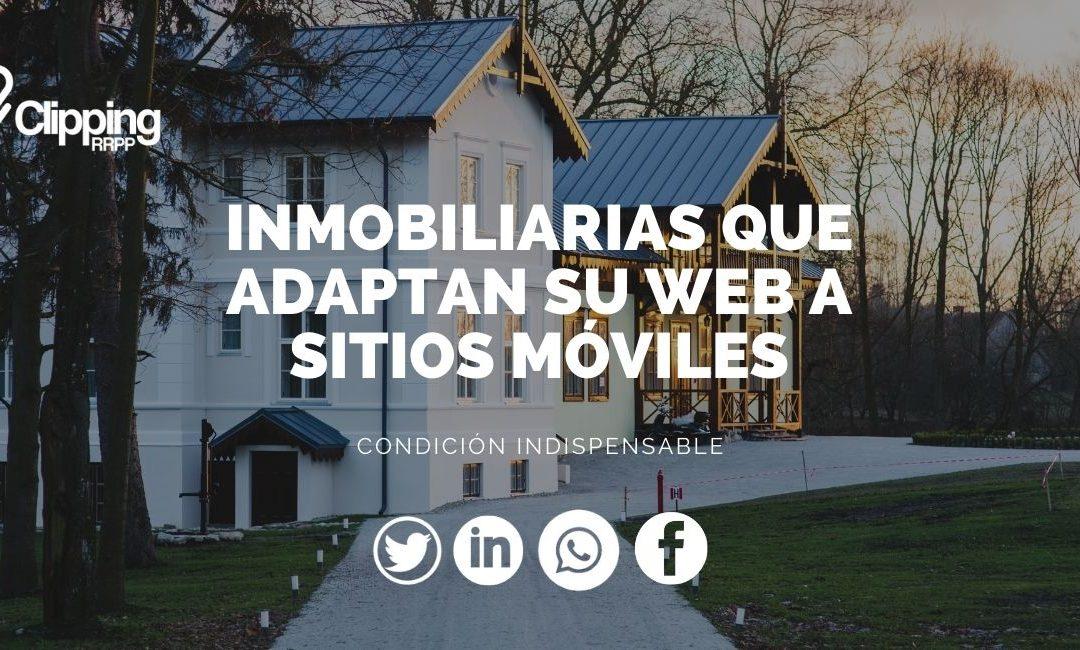 La inmobiliaria en el móvil web compatible con smartphones