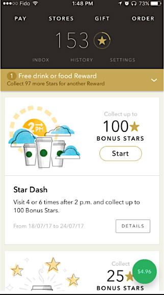 Personalización de marketing Starbucks