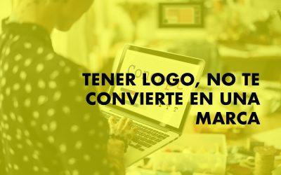 Tener logo y web no te convierte en una marca